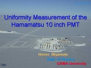 Laguna Beach 2003 Uniformity Measurement of the Hamamatsu