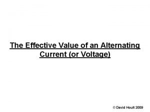 The Effective Value of an Alternating Current or
