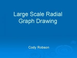 Large Scale Radial Graph Drawing Cody Robson Graph
