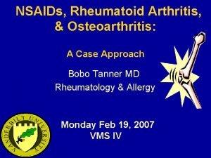 NSAIDs Rheumatoid Arthritis Osteoarthritis A Case Approach Bobo