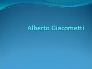 Alberto Giacometti The Man Pointing 1947 Man Pointing