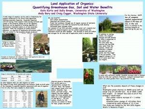 Land Application of Organics Quantifying Greenhouse Gas Soil