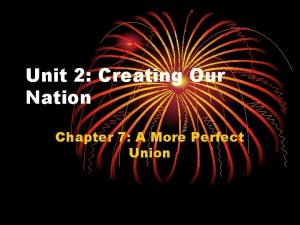 Unit 2 Creating Our Nation Chapter 7 A