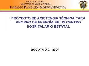 PROYECTO DE ASISTENCIA TCNICA PARA AHORRO DE ENERGA