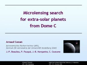 Microlensing search for extrasolar planets from Dome C
