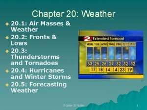 Chapter 20 Weather 20 1 Air Masses Weather