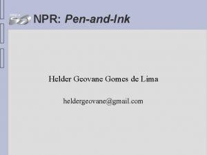NPR PenandInk Helder Geovane Gomes de Lima heldergeovanegmail