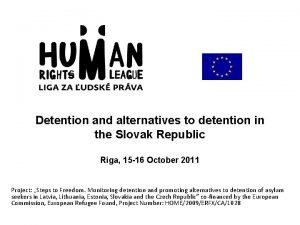Detention and alternatives to detention in the Slovak
