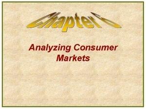 Analyzing Consumer Markets Model of Buyer Behavior Factors