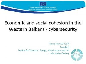 Economic and social cohesion in the Western Balkans