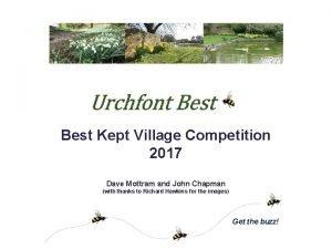 Best Kept Village Competition 2017 Dave Mottram and