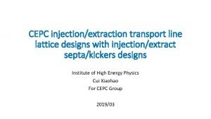 CEPC injectionextraction transport line lattice designs with injectionextract