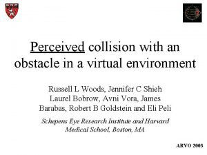 Perceived collision with an obstacle in a virtual