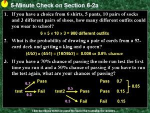 5 Minute Check on Section 6 2 a