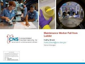 Maintenance Worker Fall from Ladder Kathy Brack Kathy