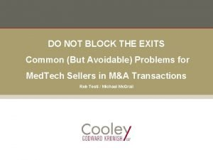 DO NOT BLOCK THE EXITS Common But Avoidable