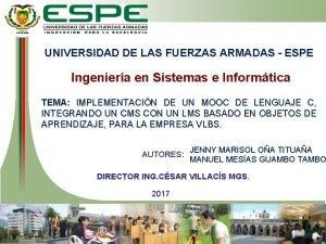 UNIVERSIDAD DE LAS FUERZAS ARMADAS ESPE Ingeniera en