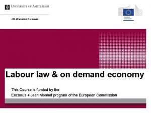J H Hanneke Bennaars Labour law on demand