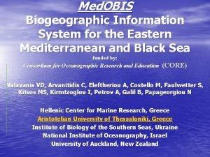 Med OBIS Biogeographic Information System for the Eastern