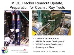 MICE Tracker Readout Update Preparation for Cosmic Ray