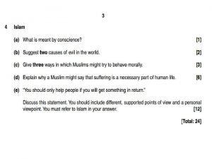 Peer Marking Islam Equality Whole class practise Islam