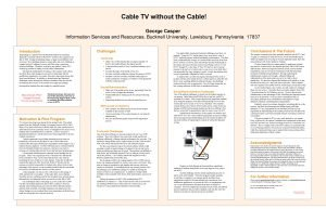 Cable TV without the Cable George Casper Information