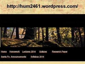 http hum 2461 wordpress com hum 2461 Humanities