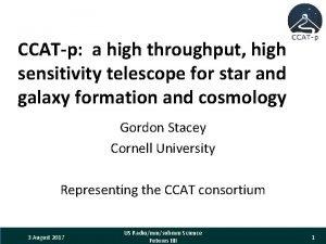 CCATp a high throughput high sensitivity telescope for