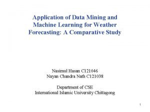 Application of Data Mining and Machine Learning for