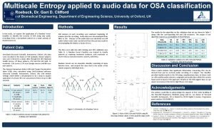 Multiscale Entropy applied to audio data for OSA