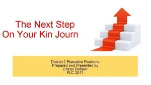 The Next Step On Your Kin Journey District