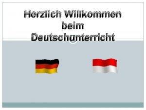 Herzlich Willkommen beim Deutschunterricht Standart Kompetenz Hren Einfaher