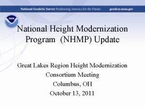 National Height Modernization Program NHMP Update Great Lakes