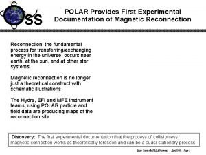 SS POLAR Provides First Experimental Documentation of Magnetic