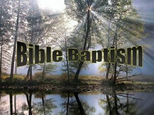 Jesus Commanded Baptism Go therefore and make disciples