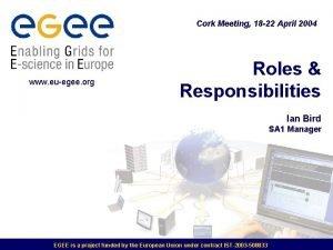 Cork Meeting 18 22 April 2004 www euegee