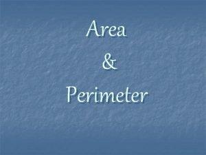 Area Perimeter Perimeter of a Rectangle 2 4