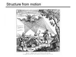 Structure from motion Structure from motion Given a