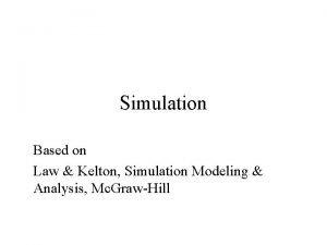 Simulation Based on Law Kelton Simulation Modeling Analysis