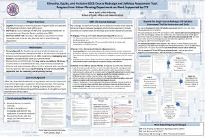 Diversity Equity and Inclusion DEI Course Redesign and