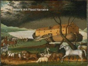 Noahs Ark Flood Narrative Genesis Flood Text Aspects