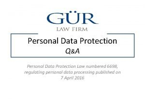 Personal Data Protection Q A Personal Data Protection