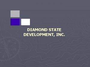 DIAMOND STATE DEVELOPMENT INC Diamond State Development provides