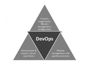 Projects assignments lifecycle management configuration Dev Ops Maintenance