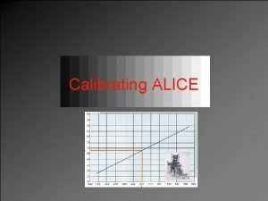 Calibrating ALICE Basics All ALICE detectors need calibration