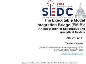 The Executable Model Integration Bridge EMIB An Integration
