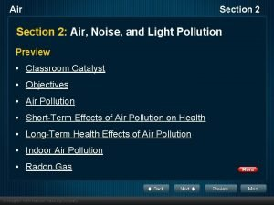 Air Section 2 Air Noise and Light Pollution