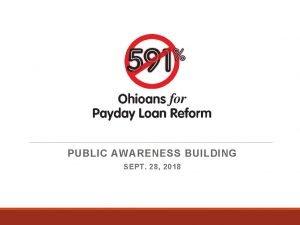 PUBLIC AWARENESS BUILDING SEPT 28 2018 Public Awareness