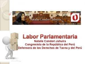 Labor Parlamentaria Natalie Condori Jahuira Congresista de la