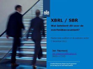 XBRL SBR Wat betekent dit voor de overheidsaccountant